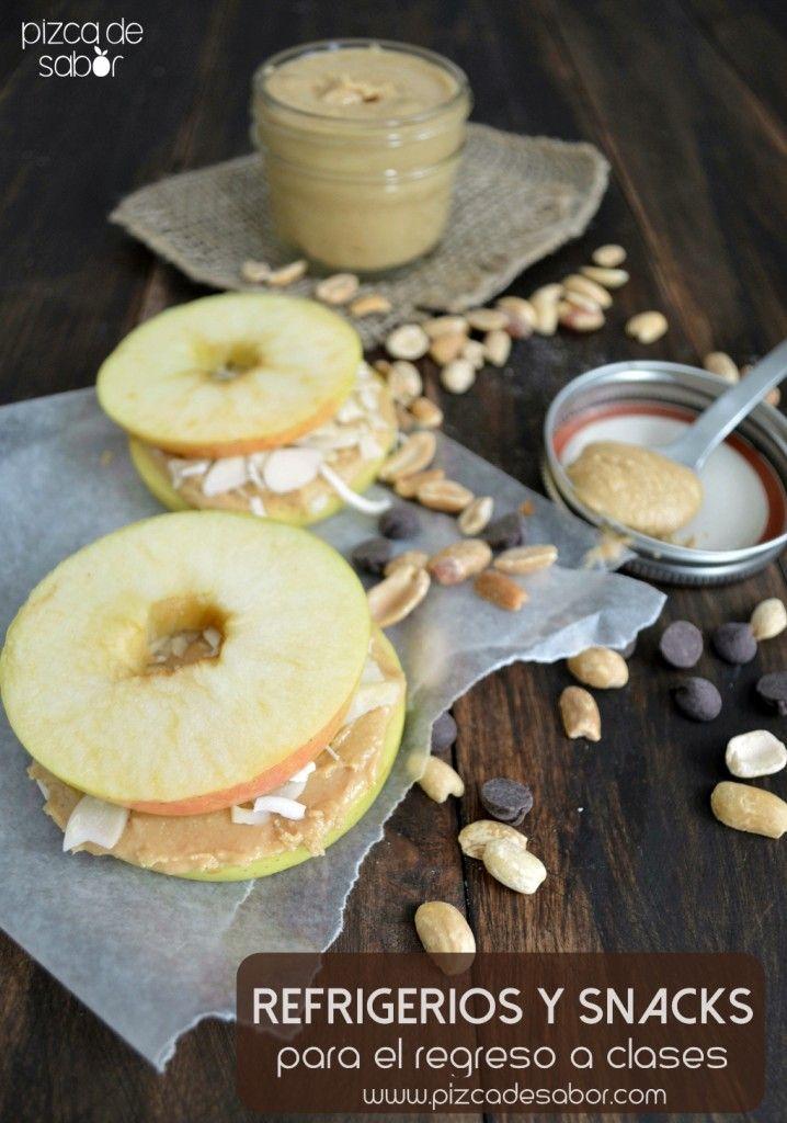 Refrigerios y snacks saludables para niños y adultos para el regreso a clases | http://www.pizcadesabor.com