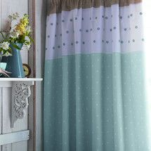 Duck Egg Country Spot Thermal Pencil Pleat Curtains | Dunelm