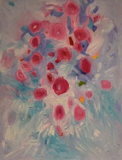Baby's Breath lll Geraldine Gillingham Oil On Canvas 24x24