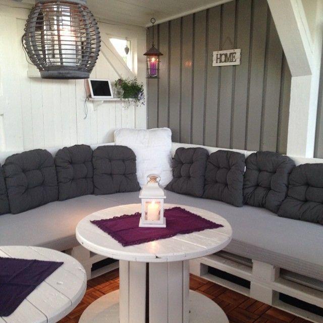 Lounge pallethout hoek