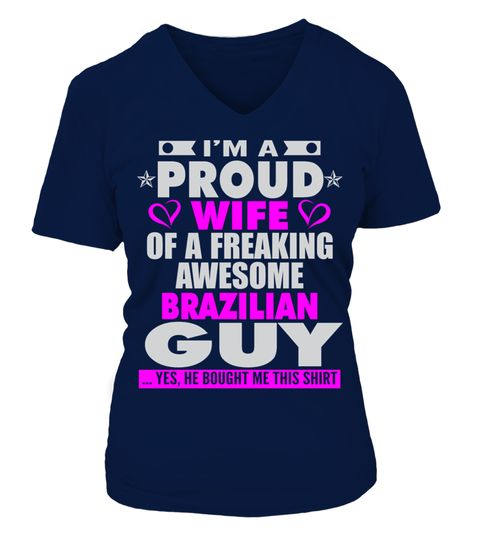 # PROUD WIFE OF BRAZILIAN GUY T SHIRTS .  PROUD WIFE OF BRAZILIAN GUY T-SHIRTS. IF YOU PROUD YOUR FATHERLAND, THIS SHIRT MAKES A GREAT GIFT FOR YOU AND YOUR HUSBAND ON THE SPECIAL DAY.---BRAZILIAN T-SHIRTS, BRAZILIAN FATHERLAND SHIRTS, BRAZILIAN FLAG T SHIRTS, BRAZILIAN WIFE SHIRTS, BRAZILIAN TEES, BRAZILIAN HOODIES, BRAZILIAN LONG SLEEVE, BRAZILIAN FUNNY SHIRTS, BRAZILIAN NATION, BRAZILIAN HUSBAND, BRAZILIAN COUNTRY, BRAZILIAN LOVERS, BRAZILIAN PAPA, BRAZILIAN LADY, BRAZILIAN WIFE…