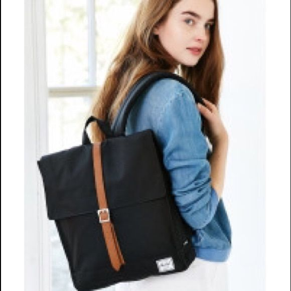 Black Herschel City Backpack square adorable style; worn few times! Herschel Supply Company Bags Backpacks