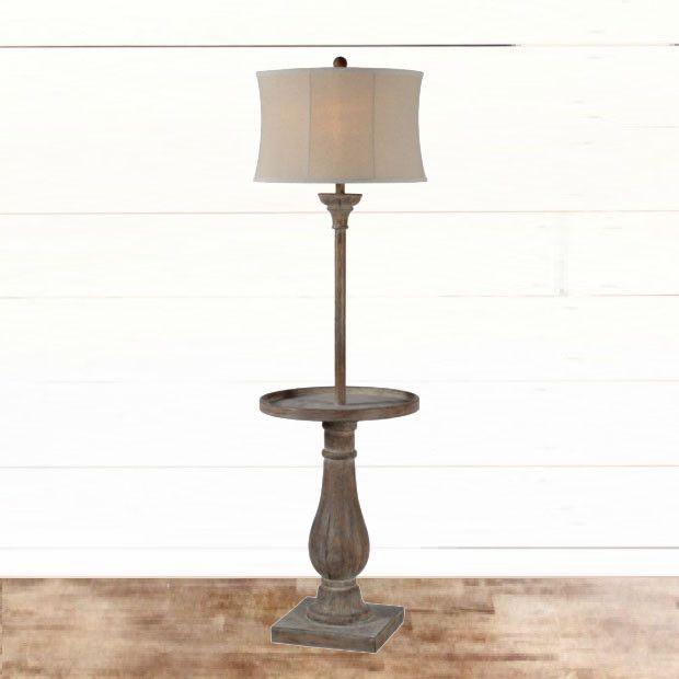 Rustic Table Floor Lamp Floor Lamp Table Floor Lamp Lamp