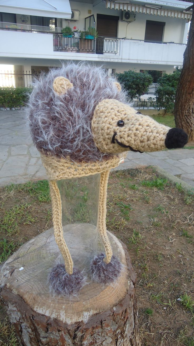 handmade crochet furry hedgehog beanie made to order facebook/toucanbeanies
