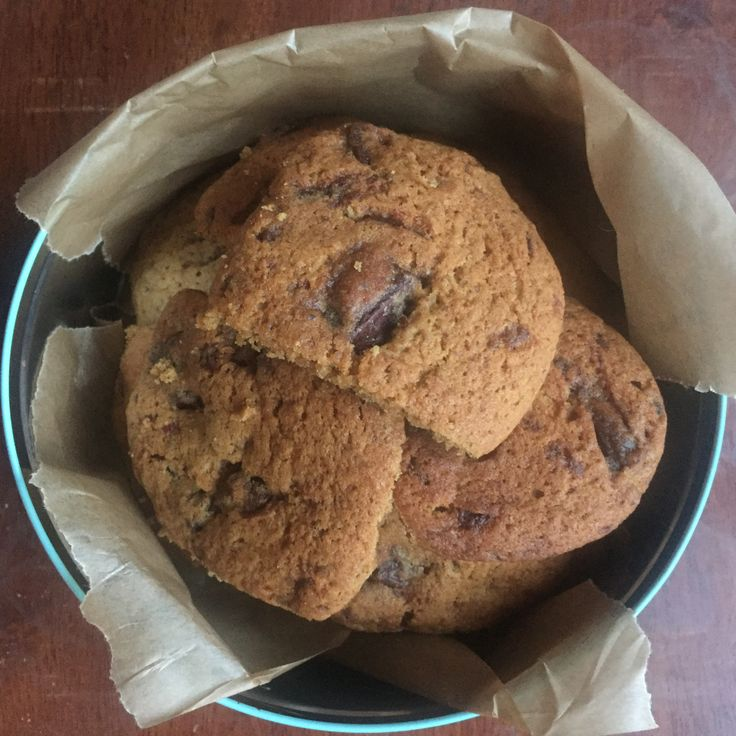 Chocolate chip cookies  vegan, dairy free, egg free, nut Free, soya free, vegetarian. Allergy friendly. www.mummybakesdairyfree.com