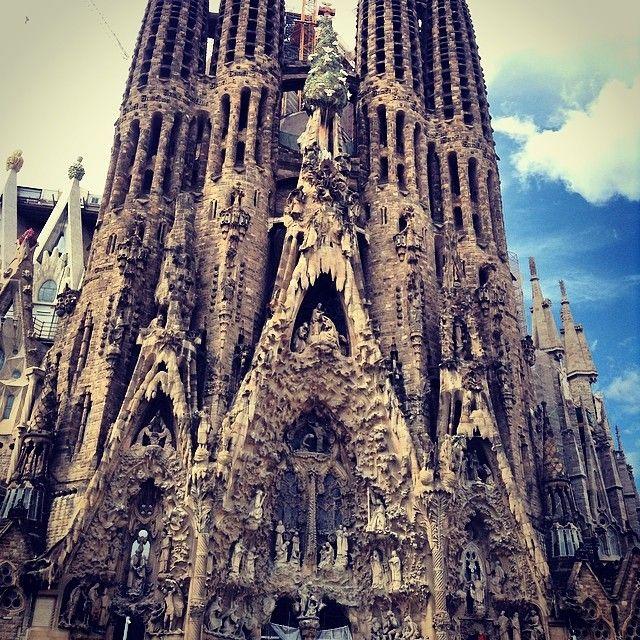 La Sagrada Familia en Barcelona, Cataluña