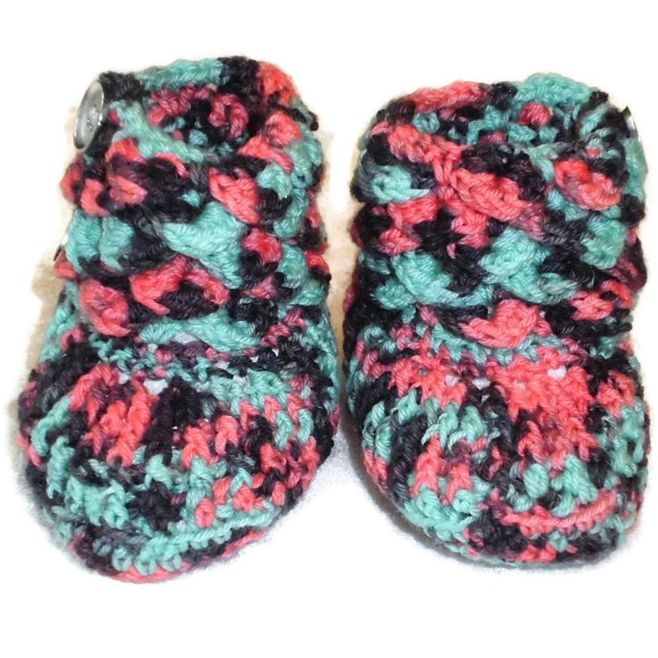 Crocodile Stitch Baby Boots - Handmade Baby Boots - Multi colors Boots EU SELLER