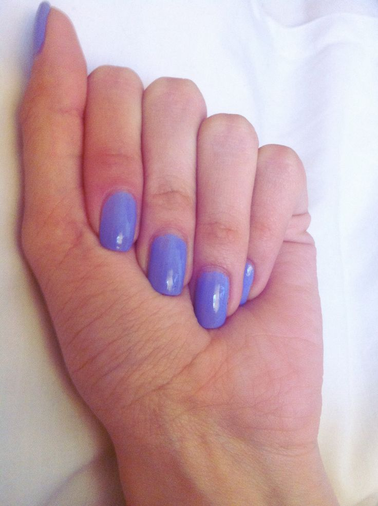 Light purple nails - spring nails