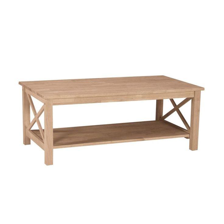 Hampton Unfinished Coffee Table
