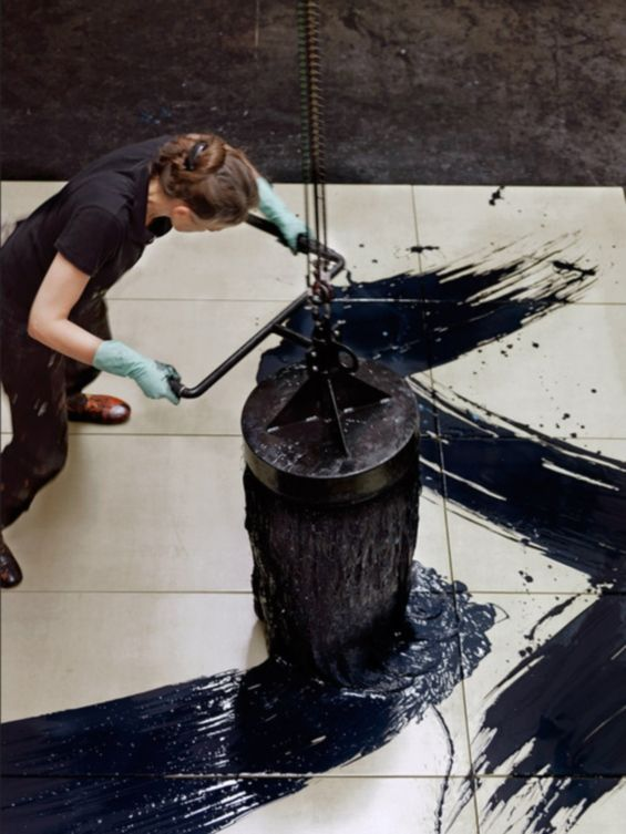 Fabienne Verdier (via Plus-size Painting: Abstractions Created With Massive Unconventional Paint Brushes | Beautiful/Decay Artist & Design)