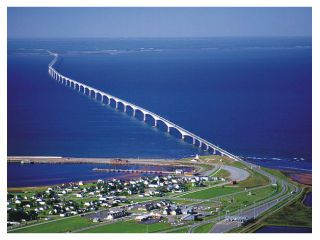 "Confederation Bridge, PEI This is the most amazing bridge -- you pay a toll, but only ""if"" you leave the island!"