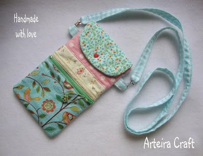 Arteira Craft: Porta Ipod Celular ou Camera digital
