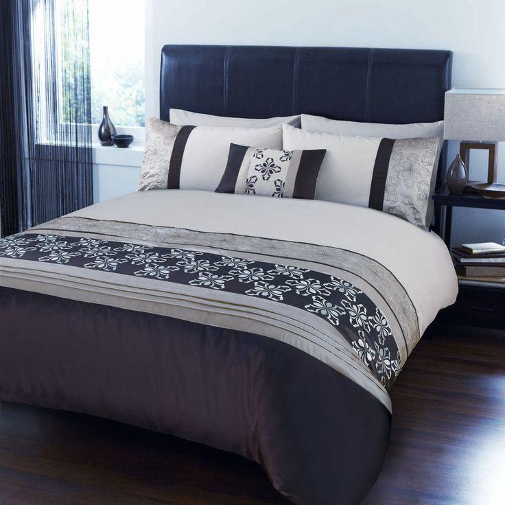 Ropa de cama conjunto colchas chocolate marron palma - Cojines marron chocolate ...