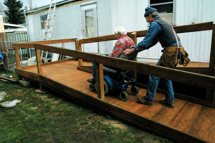 Building wheelchair ramps volunteer work good for the for Building a wheelchair accessible home