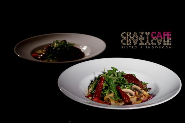 Crazy Salad: beef, parmesan cheese, carrots, celery, beets, mushrooms, peperoncini, dressing