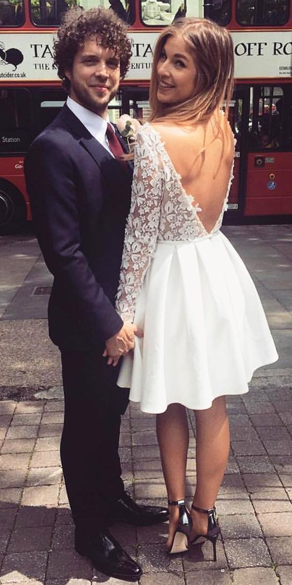 24 Amazing Short Wedding Dresses For Petite Brides ❤ See more: http://www.weddingforward.com/short-wedding-dresses/ #wedding #dresses #short