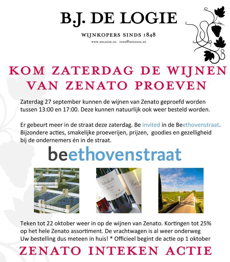 Be there! Zenato wijnproeverij. Beethovenstraat 27.