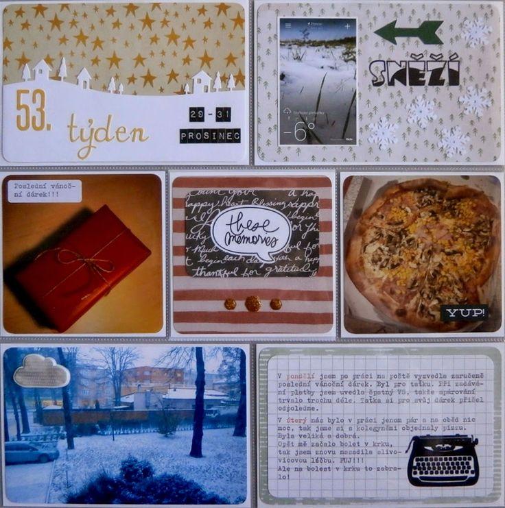 Project life 2014 - 53. týden a konec! (levá strana)