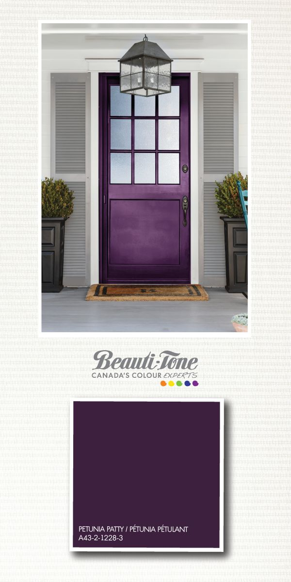 Make a #bold statement with your entrance with this eye-catching majestic #purple