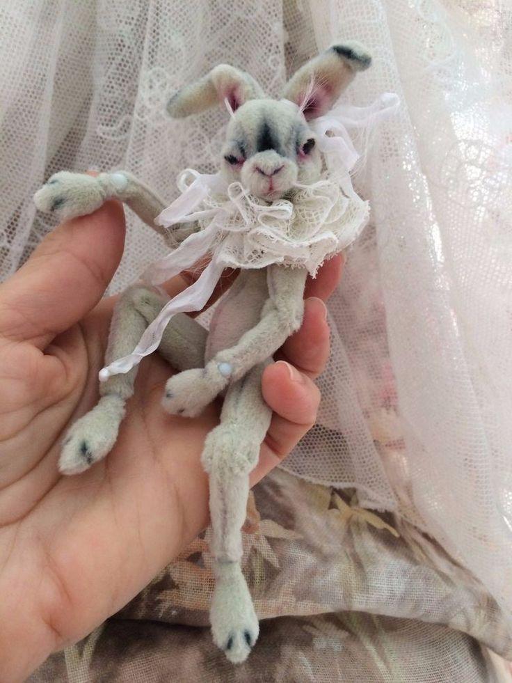 "OOAK 5 1/2"" BJD Rabbit Friend for Connie Lowe,Wiggs,Lasher Girls... By: M.Selaya"