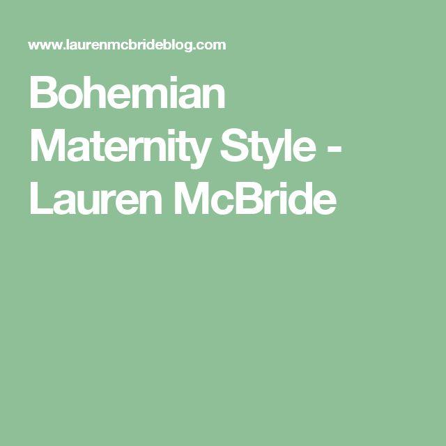 Bohemian Maternity Style - Lauren McBride