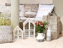 Zobacz zdjęcie dekoracyjne poduszki, torba jutowa, ceramiczne wazony poduszki z lnu, poduszk...
