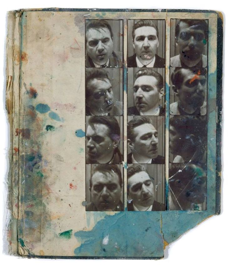 Photobooth Pictures of Francis Bacon & George Dyer (found in Bacon's Studio)