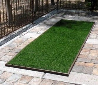 Pup-Grass® Features: Instant drainage Lead Free UV Resistant Antibacterial Agent Easy to maintain Durable Use For: back yards, side yards, patios, dog runs, boarding kennels, doggy day care, dog parks, K9 training facilities