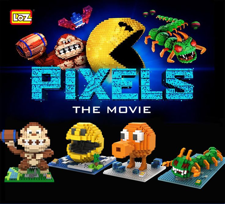 Pac-Man,Donkey Kong,Q-bert,Centipede ,take you back to the old time that you play games with your friends.【#LOZ Pixels series building block toy,see them in September 16th,2015】
