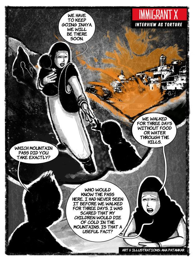 """Latest """"Immigrant X"""" Comic Frames Asylum Interviews As Torture for immigrantx.org"""
