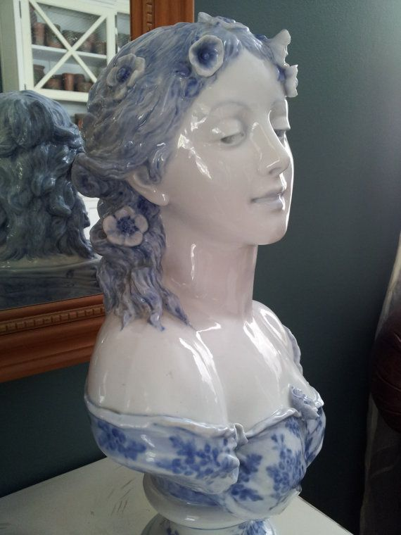 Antique French Porcelain Bust Artist G Levy Circa 1800 S