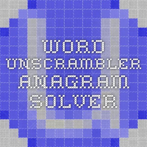 Word Unscrambler - Anagram Solver (and rhyme finder!)