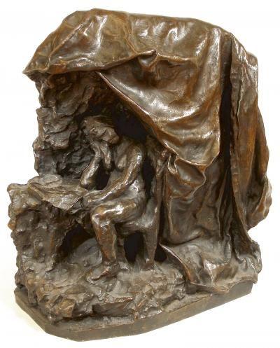 Camille CLAUDEL (1864-1943) Femme lisant une lettre - vers 1897 (pour le platre original) Sculpture en bronze à patine brune