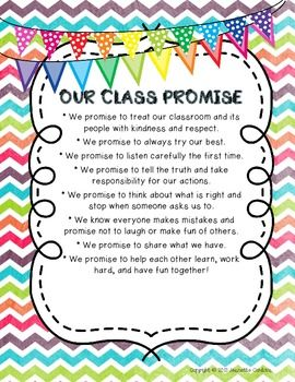 Our Class Promise Posters and Book Set