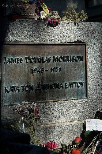 Jim Morrison's grave, Père Lachaise, Paris