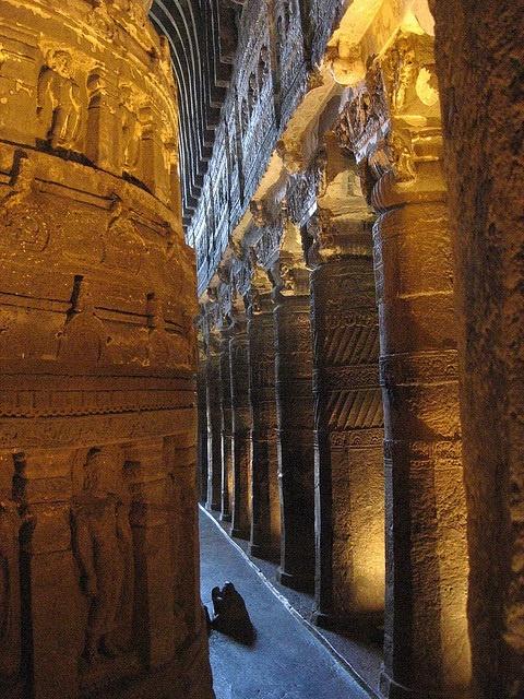 Ajanta Caves, Maharashtra, India