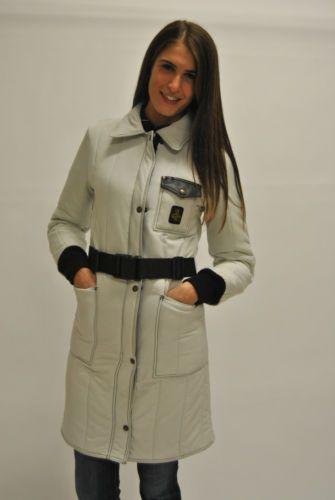 Piumino-lungo-da-donna-senza-cappuccio-Refrigiwear