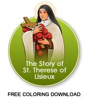 Free Therese coloring book - from the Holy Hero's site; lots of great things on here