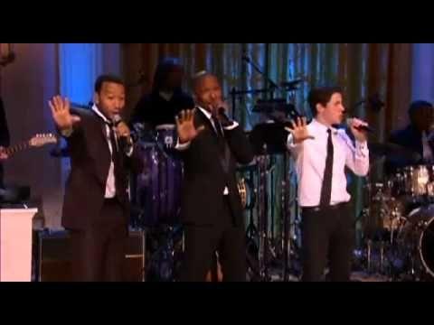 Nick Jonas, Jamie Foxx, Seal, John Legend Performing at the White House
