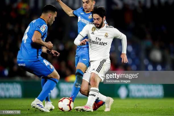 Bruno Of Getafe Cf Mauro Arambarri Of Getafe Cf Isco Of Real Madrid Isco Real Madrid La Liga