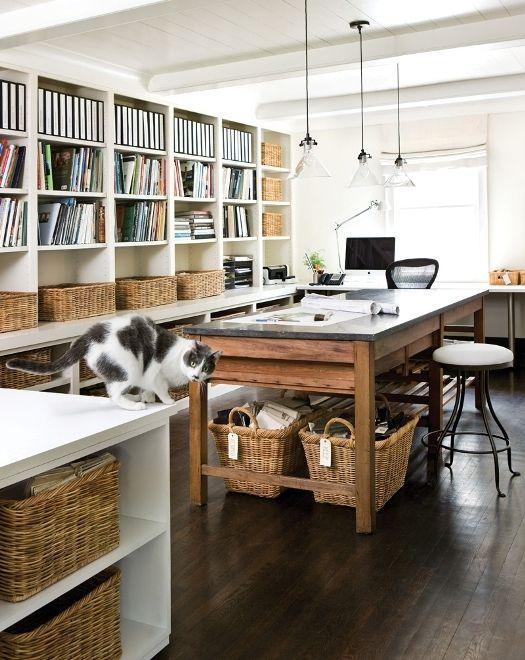 organized studio workspace