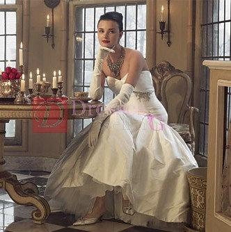 Long sleeve chiffon wedding glove
