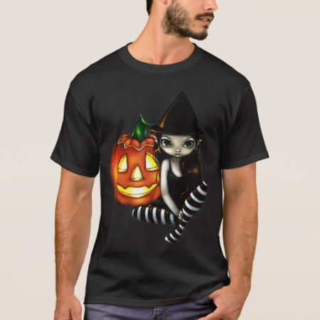 Halloween Night cute gothic witch  & pumpkin Shirt - click to get yours right now!