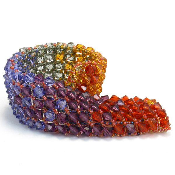 Rich Variation - Solid Swarovski Crystal Cuff Swarovski Crystals. Sterling Silver handmade hook closure. $259.00 #statementjewelry #handmade #handmadejewelry #cuff #jewelry #fashion