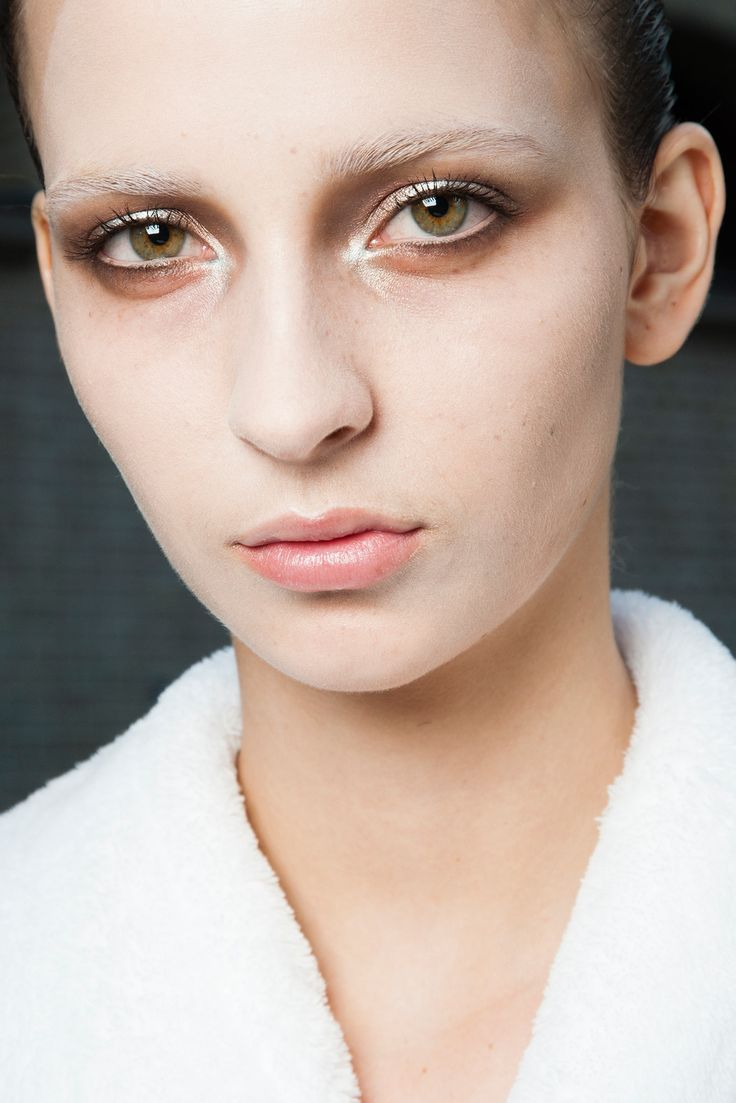 Try some brown, olive, grey, or blue hues for a fresh outcome. Just replace dark winter colors with lighter ones and you'll see how your look and mood is changing!  Note: This year the eye colour palette becomes warm-toned!  Photo By Michele Morosi. Backstage at Alexander Mc Queen SS2015-RTW via style.com  Read article at http://www.antigonilivieratou.com/index.php/en/newsen/74-news2014022501en