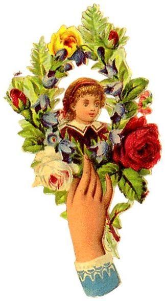 Vintage Floral Hand Clip Art – Vintage Images Download