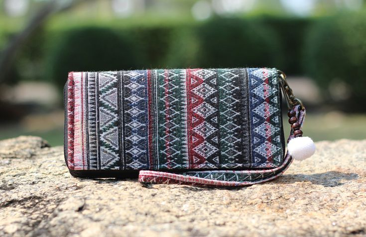 Bohemian Womens Wristlet Wallet & Clip auf Gurt – Boho Clutch Geldbörse, Reisebrieftasche mit Reißverschluss, Vegan Fabric Wallet, einzigartige Geschenkidee für Lehrer
