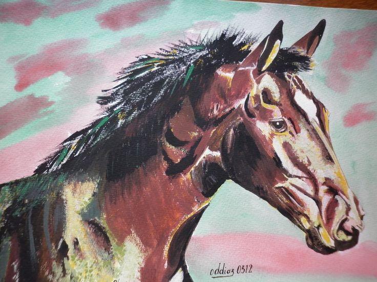 horse -caballo - acrilico