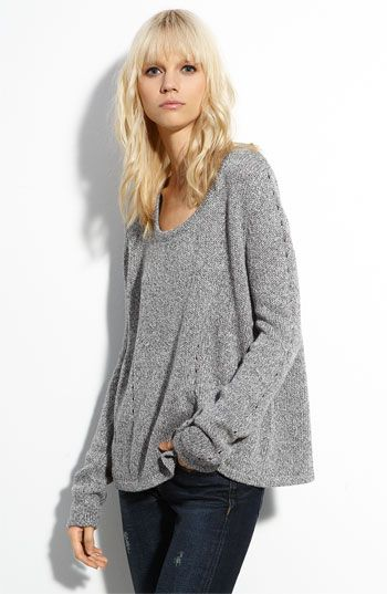 Rag and Bone are so freakin' cool it's redic. This heavy gray slouch sweater is a dream.