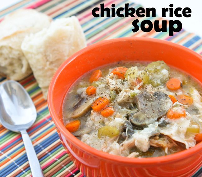 Chicken RiceSoup | pipandebby.com